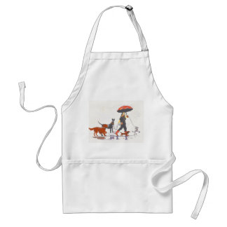 Happy walk adult apron