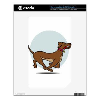 Happy Walking Dog Skins For The NOOK Color