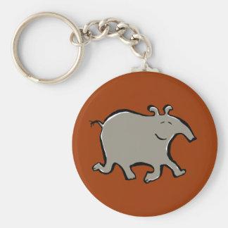 happy walking tapir keychain