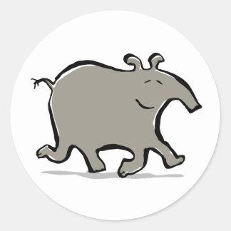 happy walking tapir stickers
