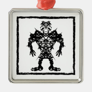 Happy Warrior Metal Ornament