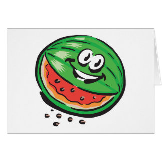 happy watermelon card