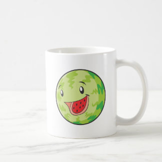 Happy Watermelon Fruit Smiling Coffee Mugs