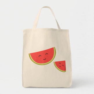 Happy Watermelon Grocery Tote Bag