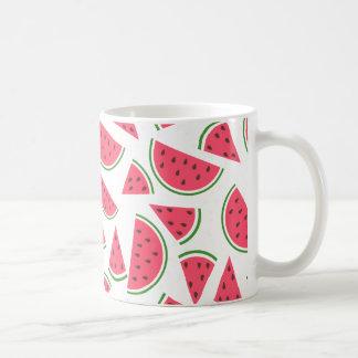Happy Watermelon Pattern - Choose Your Background Coffee Mug