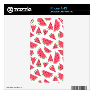 Happy Watermelon Pattern - Choose Your Background Skins For The iPhone 4S