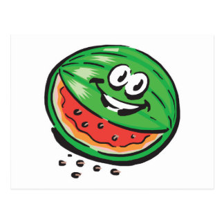 happy watermelon postcard