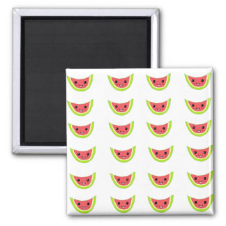 Happy Watermelon Slices 2 Inch Square Magnet