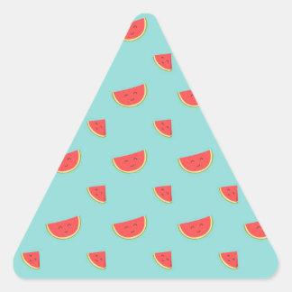 Happy Watermelon Triangle Sticker
