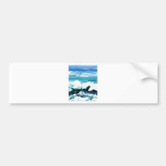 Happy Wave Ocean Art Gifts Cricketdiane Bumper Sticker