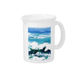 Happy Wave Ocean Art Gifts Cricketdiane Drink Pitcher