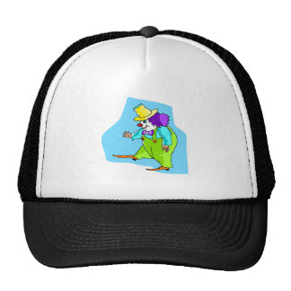 Happy Waving Clown Mesh Hats