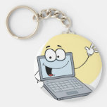 Happy Waving Laptop Keychains