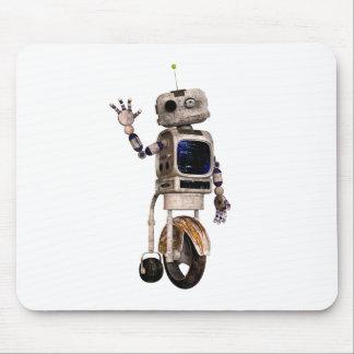 Happy Waving Robot Mouse Pad