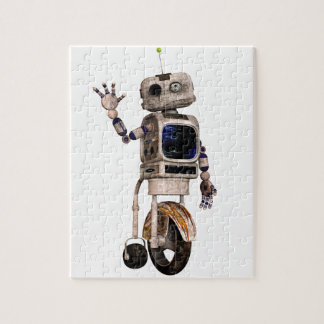 Happy Waving Robot Jigsaw Puzzle