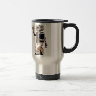 Happy Waving Robot Travel Mug