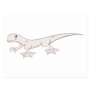 Happy Web Footed Gecko Cartoon Postcard