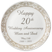 Happy Wedding Anniversary Commemorative Plate at Zazzle