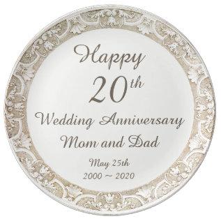 Happy Wedding Anniversary Commemorative Plate at Zazzle