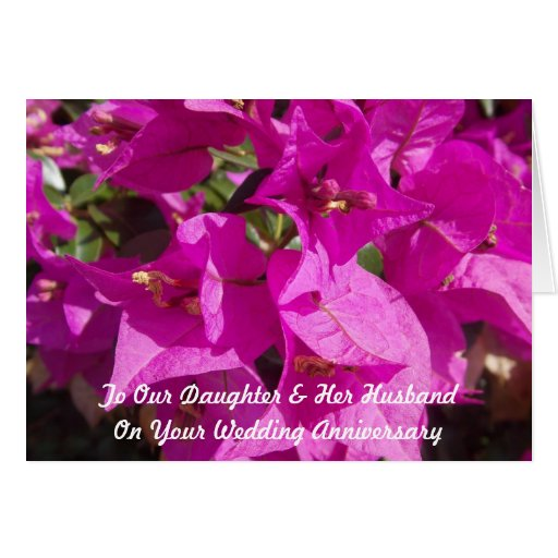 Wedding Anniversary Gift For Daughter : Happy Wedding Anniversary Daughter And Husband Card Zazzle