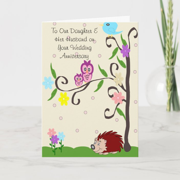 Happy Wedding Anniversary Daughter And Husband Card Zazzle Com