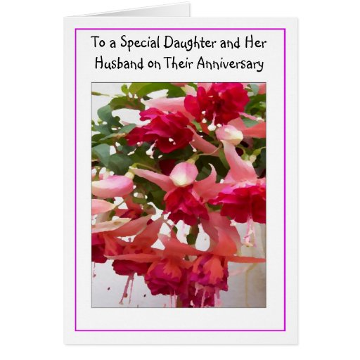 Happy Wedding Anniversary Gift For Husband : Happy Wedding Anniversary Daughter And Husband Card Zazzle