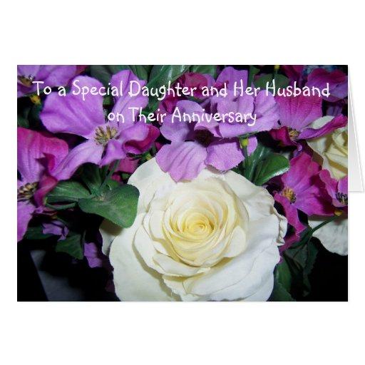 Happy wedding anniversary daughter and husband greeting