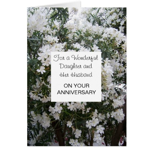 Happy Wedding Anniversary Daughter And Husband Card Zazzle