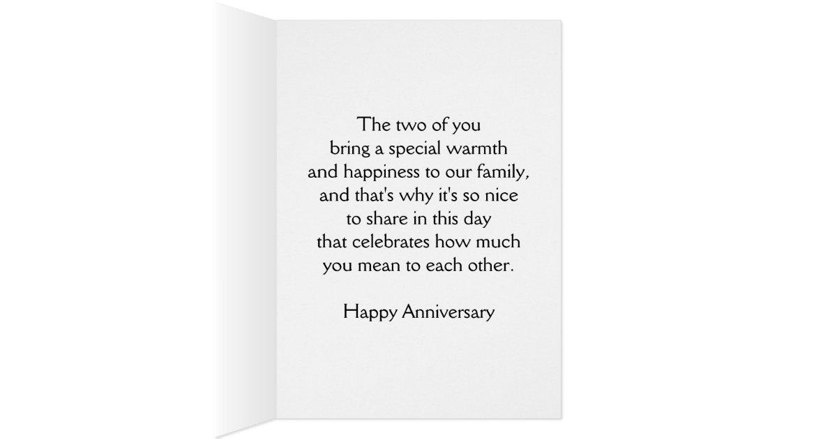 Happy wedding anniversary son and wife heart card zazzle