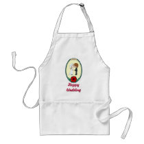 Happy Wedding - Bride Adult Apron