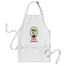 Happy Wedding - Cute couple Adult Apron