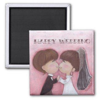 Happy Wedding Magnet magnet