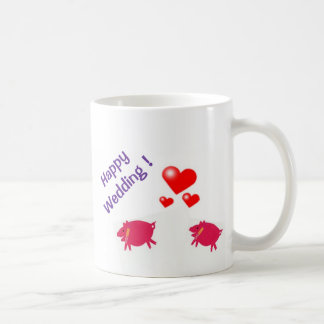 Happy Wedding! Classic White Coffee Mug