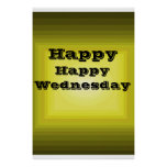 Happy Wednesday Yellow Color code it Day of Week Print