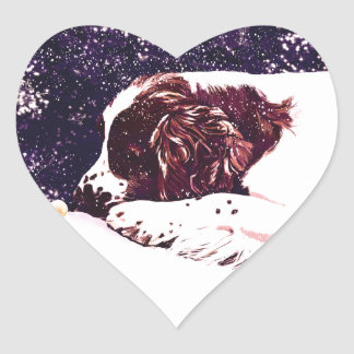 happy Welshie holidays Heart Sticker