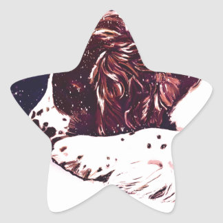happy Welshie holidays Star Sticker