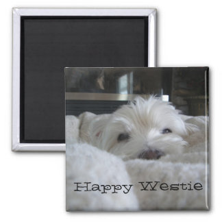 Happy Westie Photo Magnet