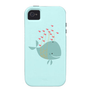 Happy Whale iPhone 4/4S Covers