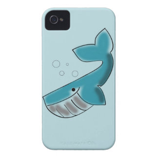happy whale Case-Mate iPhone 4 case