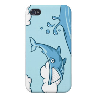 Happy Whale Case For iPhone 4