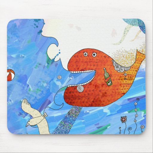 Happy whale Mousepad by Krize