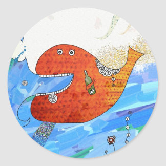 Happy whale Stickers by Krize