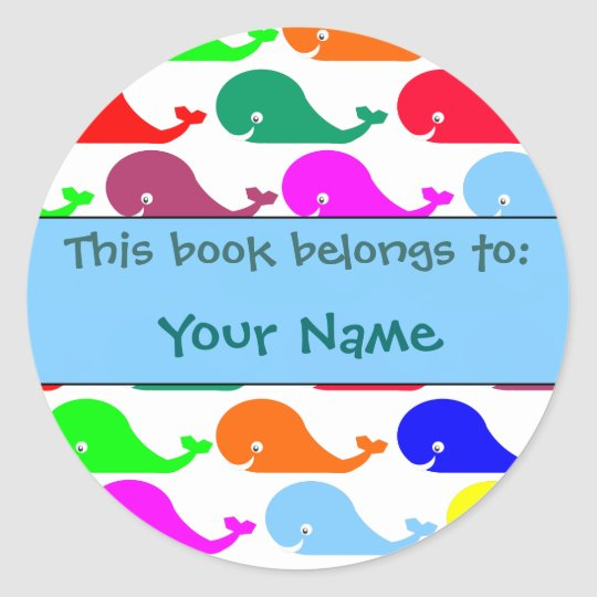 Happy Whales Book Label