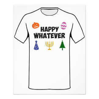 """Happy Whatever Holiday 4.5"""" X 5.6"""" Flyer"""