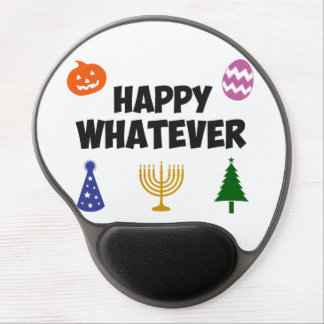 Happy Whatever Holiday Gel Mouse Mats