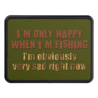 Happy When I'm Fishing Tow Hitch Cover