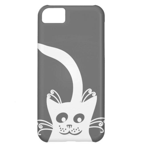 Happy White Cat iPhone 5C Cases