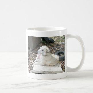 Happy White Dog Coffee Mug