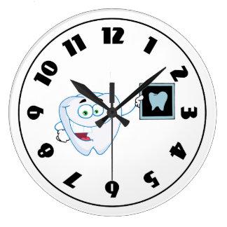 Happy White Tooth Clock