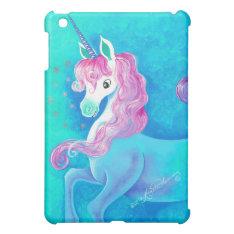 Happy White Unicorn Case For The Ipad Mini at Zazzle